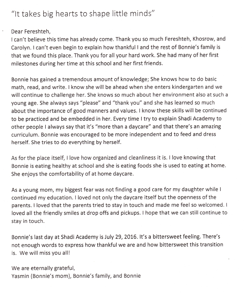 Daycare Letter Of Recommendation from www.shadiacademy.com